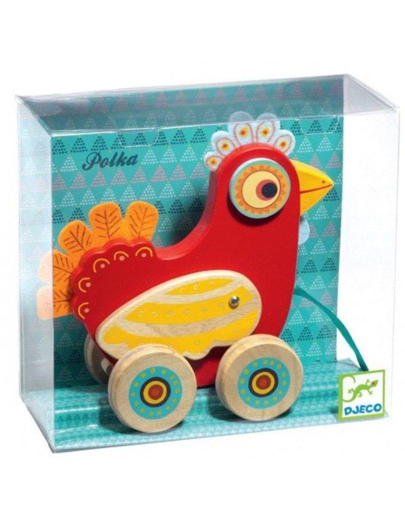 Djeco Djeco Pull Along Toy - Polka
