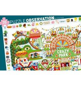 Djeco Observation puzzle - Crazy Park - 35 pcs
