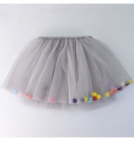 Tutu Skirt w/Pompoms