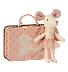 Maileg Maileg Mouse Guardian Angel w/Suitcase