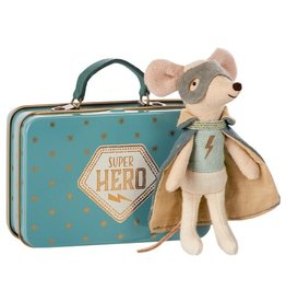 Maileg Maileg Mouse Guardian Hero w/Suitcase
