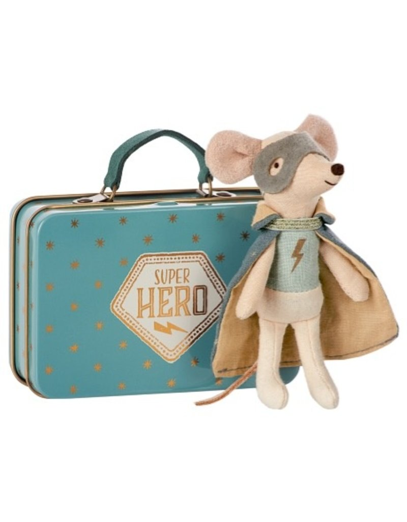Maileg Maileg Mouse Guardian Hero w/Suicase