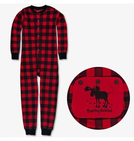 "Hatley ""Trailing Behind"" Buffalo Plaid Kids Union Suit"