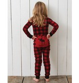 "Hatley ""Trailing Behind"" Buffalo Plaid Baby Union Suit"