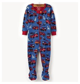 Hatley Silly Fire Trucks Mini Footed Coverall