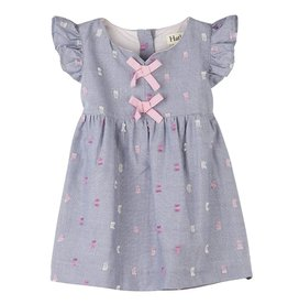 Hatley Pink Bows Baby Pinafore Dress