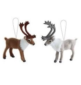 Faux Fur Reindeer Ornament
