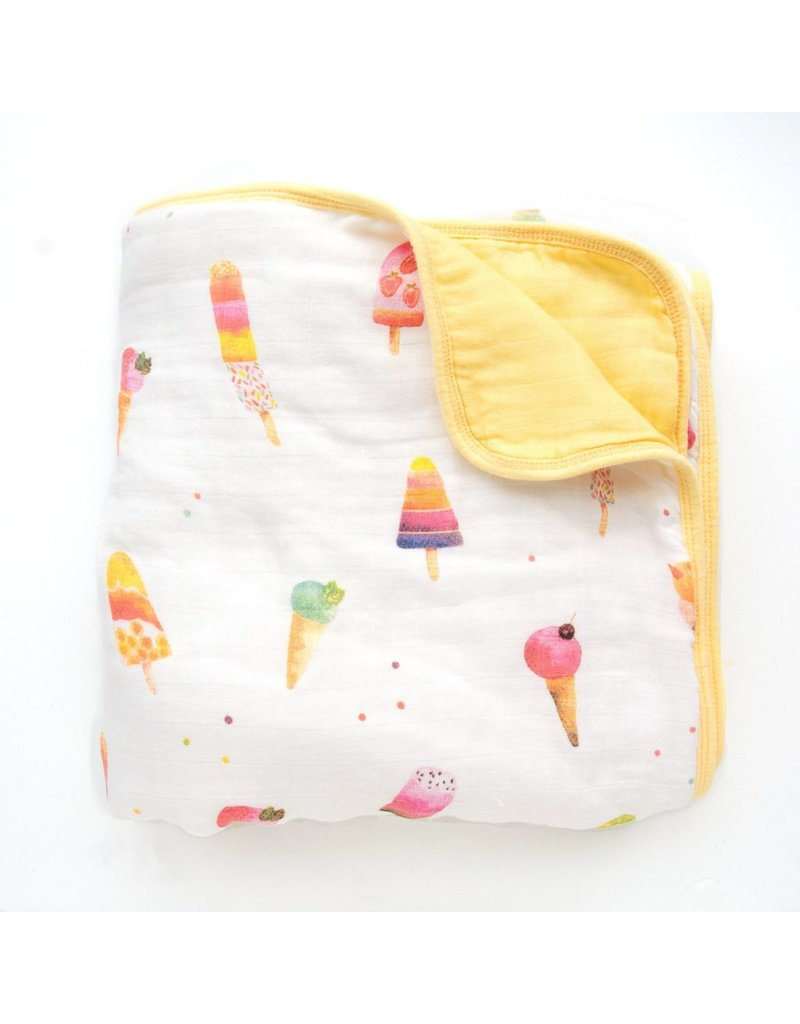 Loulou Lollipop Loulou Lollipop Plush Bamboo Quilt - Ice Cream