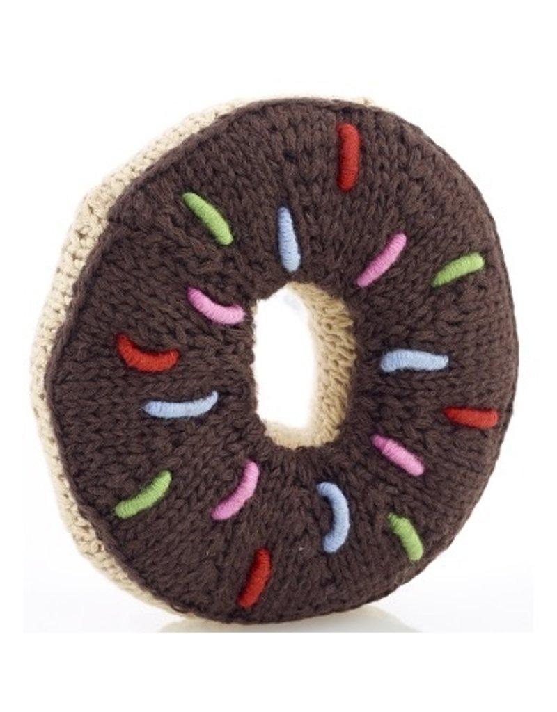 Pebble Chocolate Donut Rattle