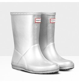 Hunter Boots Kid's First Hunter Metal Boots Silver