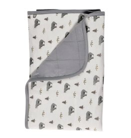 Kyte Baby Baby Blanket In Graphite/Creek