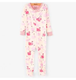Hatley Dancing Swans Footed Sleeper