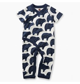 Tea Collection Black Bears Kimono Romper