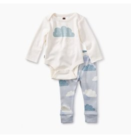 Tea Collection Cloud Onesie/Legging Set