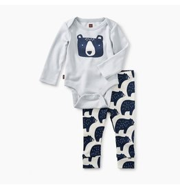 Tea Collection Black Bear Onesie/Legging Set