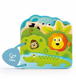Hape Toys Baby's Wild Animal Book