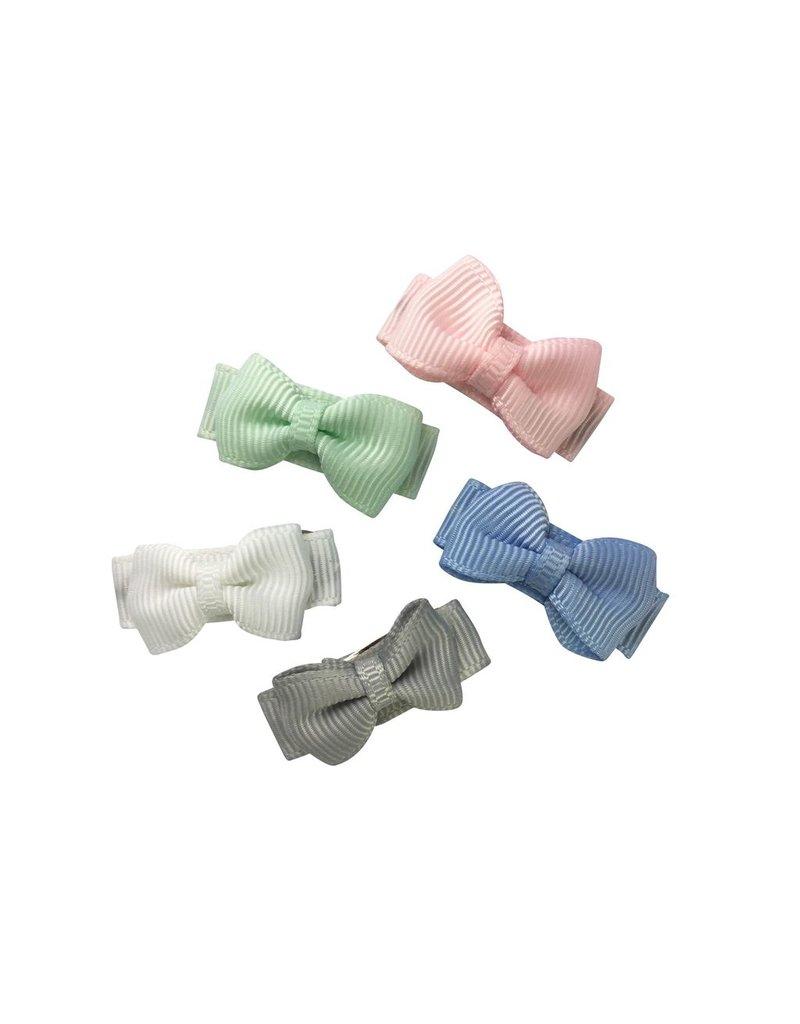 Baby Wisp Small Snap Tuxedo Bow 5pk