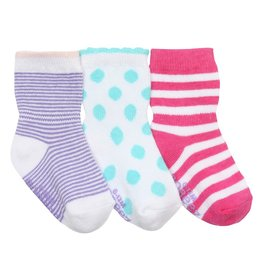 Girl's Sock 3pk - Pretty Dot