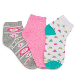 Stride Rite Emmy: 3pk Aztec Quarter Socks