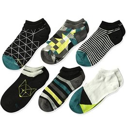 Stride Rite Grayson: 6pk No Show Socks