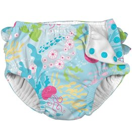 iPlay Sea Coral Reef Ruffle Swim Diaper