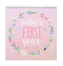 Heartfelt Girl First Year Keepsake Calendar