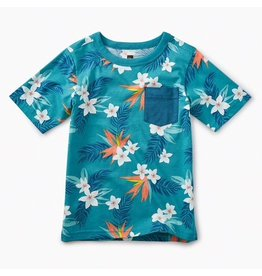 Tea Collection Tropical Florals Pocket Tee