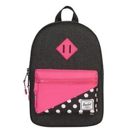 Herschel Heritage Black Crosshatch/Pink