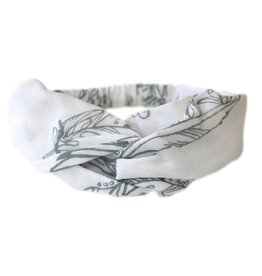 Nest Headband Feather White Baby
