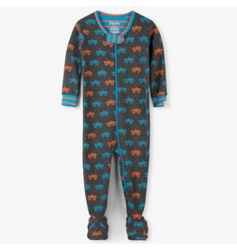 Hatley Monster Trucks Organic Footed Coverall