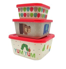 Eric Carle Bamboo Snack Container Set