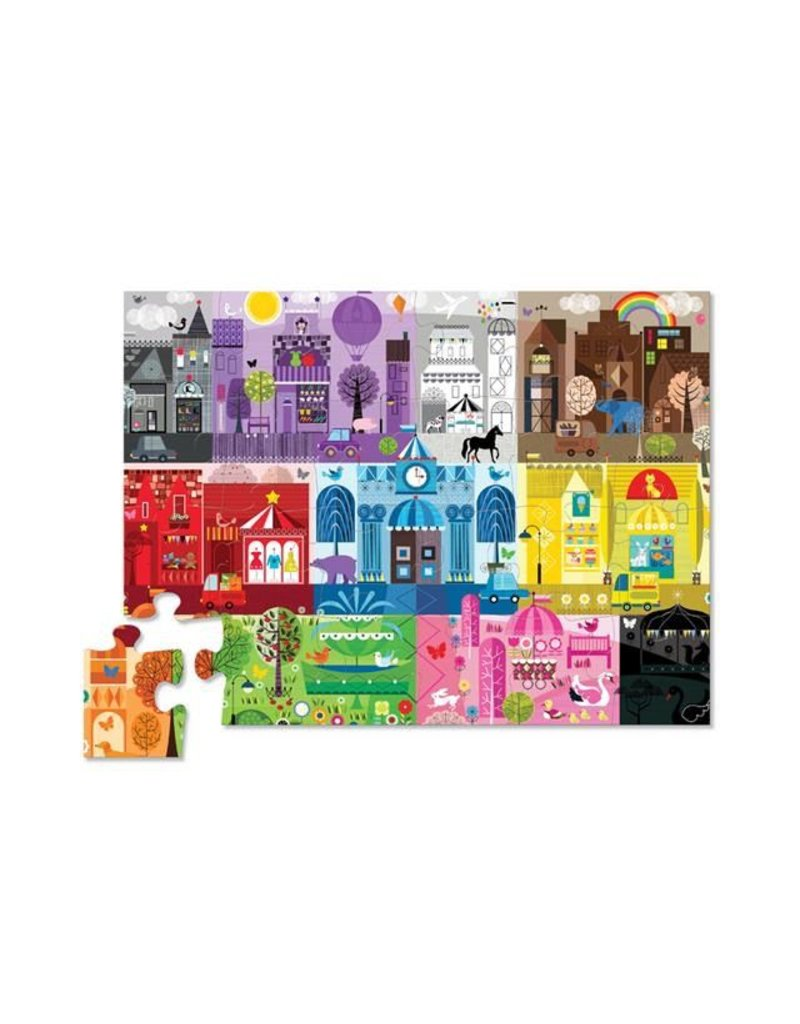 Crocodile Creek 24-pc. Early Learning - Color City Puzzle