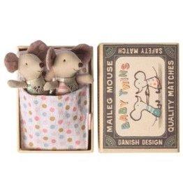 Maileg Baby Twin Mice in Box