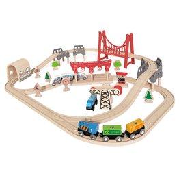 Hape Toys Double Loop Railway Set