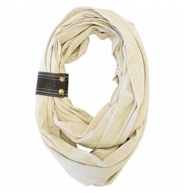 Nursing Happens Modal Infinity Breastfeeding Scarf - Oatmeal/Chocolate Cuff