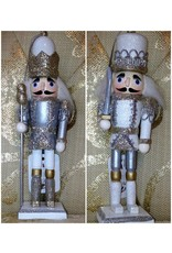 RAZ IMPORTS  INC 3522828 GLITTER TRIMMED NUTCRACKER ORNAMENT