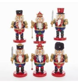 KURT S. ADLER C5847 ROTUND NUTCRACKER WITH SWORD/ STAFF/ DRUM