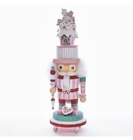 KURT S. ADLER HA0340A HOLLYWOOD GINGERBREAD HOUSE HEAD LED LIT NUTCRACKER