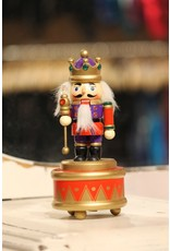 KURT S. ADLER C6843 MUSICAL WOODEN NUTCRACKER ON STAND