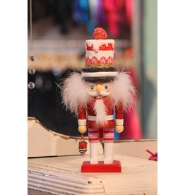 KURT S. ADLER HA0343 HOLLYWOOD DESSERT NUTCRACKER <br /> STRAWBERRY SHORTCAKE &amp; MERINGUE MACARON
