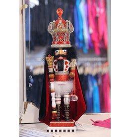 KURT S. ADLER HA0266 HOLLYWOOD KING OF HEARTS NUTCRACKER ON PIANO KEY STAND