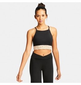 CAPEZIO & BUNHEADS A111751W-BCK-M BARRE'LETTE LAYERED LACE BRA TOP WITH A/B BRA-TEK
