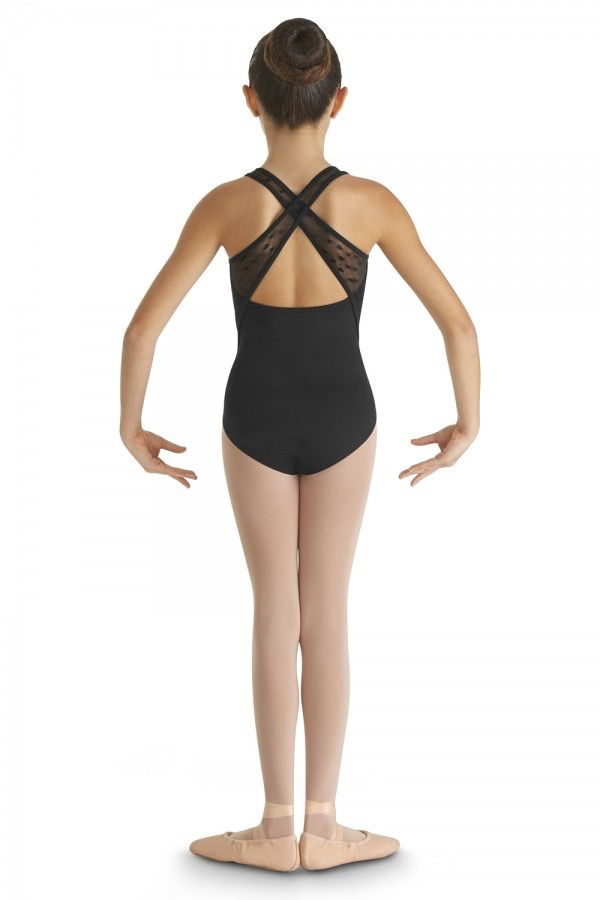 BLOCH & MIRELLA CL8665 HEARTS A FLUTTER ARGONA WIDE CROSS BACK TANK LEOTARD
