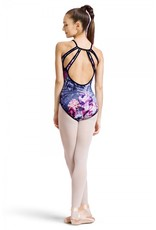 BLOCH & MIRELLA L8767P ROSE FOLIAGE CAILEY REVERSIBLE TRI DROP BACK CAMISOLE LEOTARD