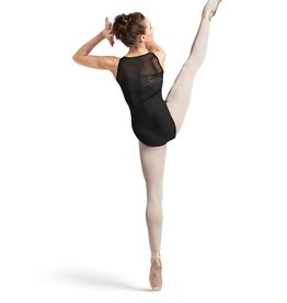 BLOCH & MIRELLA L9575 LIGHTLY FLORAL JACQUARD MESH SWEETHEART TANK LEOTARD