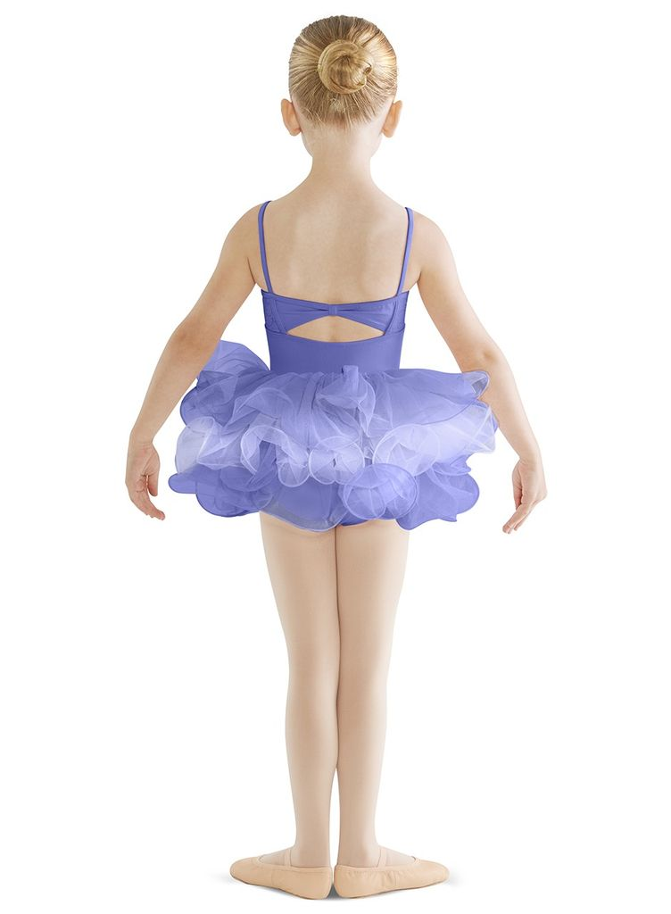 BLOCH & MIRELLA CL9567 TILLENE EMBROIDERY ANGLAISE BUST, BOW BACK CAMISOLE LEOTARD