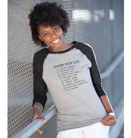 COVET DANCE DWL DANCER WISH LIST RAGLAN TEE SHIRT