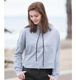 COVET DANCE LDCH LETS DANCE ⚡️ CROPPED OPEN BACK L/S HOODIE