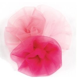 DASHA DESIGNS 2322 SOFT TULLE ROLLED FLOWER CLIP
