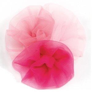 DASHA DESIGNS 2322 SOFT TULLE ROLLED FLOWER CLIP
